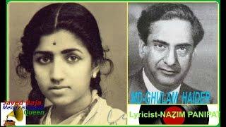 LATA JI:Film:MAJBOOR-1948-Dil Mera Toda Mujhe Kahin Ka Na-[ 5th Song in Best 78 RPM Sound ]