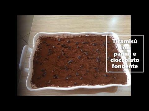 Tiramisù Con Panna E Cioccolato Fondente