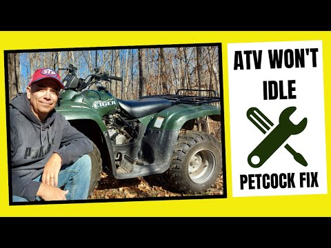 WHY WON'T MY ATV IDLE WITHOUT DYING // Suzuki Eiger Fuel Petcock Fix