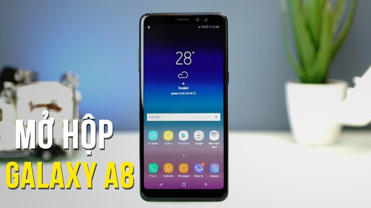 Mở Hộp Samsung Galaxy A8 2018 – Chiếc smartphone bất ngờ ra mắt dịp cuối năm