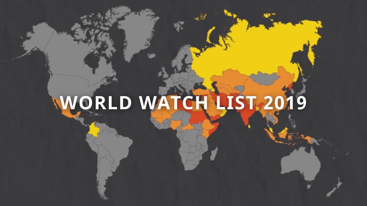 Risultati immagini per world watch list 2019