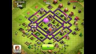 Clash of clans - TH7 Defense vs low level troops - OLD FOXES