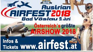 Austrian Airfest 2018 with Cessna L19 Bird Dog flying display