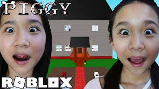 We Escaped Our IRL Home in PIGGY Build Mode!  Roblox
