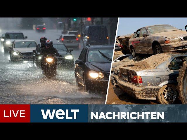 STARKREGEN & UNWETTER in Deutschland & Europa: Katastrophenschutz unter Druck | WELT Newsstream