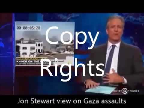 Jon Stewart demonstrates the Israel Gaza conflict DELETED VIDEO Pac Nam