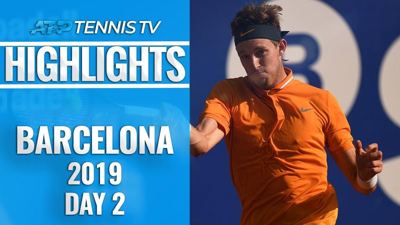Jarry Upsets Zverev; Thiem, Tsitsipas Safely Through | Barcelona Open 2019 Highlights Day 2
