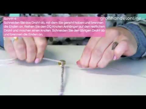 DIY: Armband mit Macramé Draht und DQ Knotenverschluss