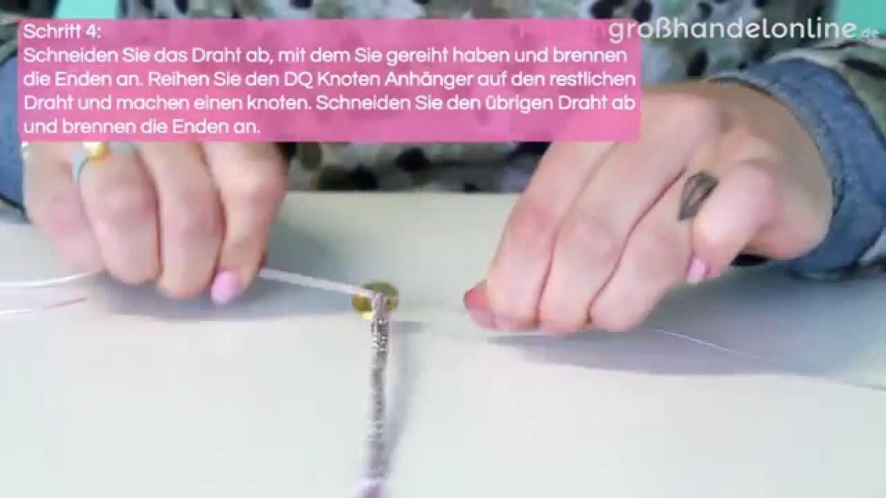 Schmuck machen: Armband mit Macramé Draht und DQ Knotenverschluss ...