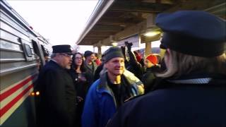 Amtrak 56 crowd surfs through Northampton