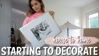 DECORATING THE NEW HOUSE! DAY IN THE LIFE VLOG | NEW HOME DECOR