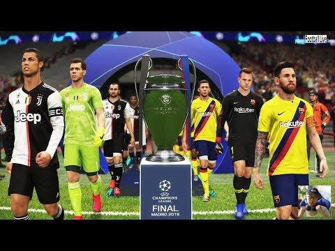 PES 2019   Barcelona vs Juventus   Final UEFA Champions League (UCL)   Ronaldo vs Messi