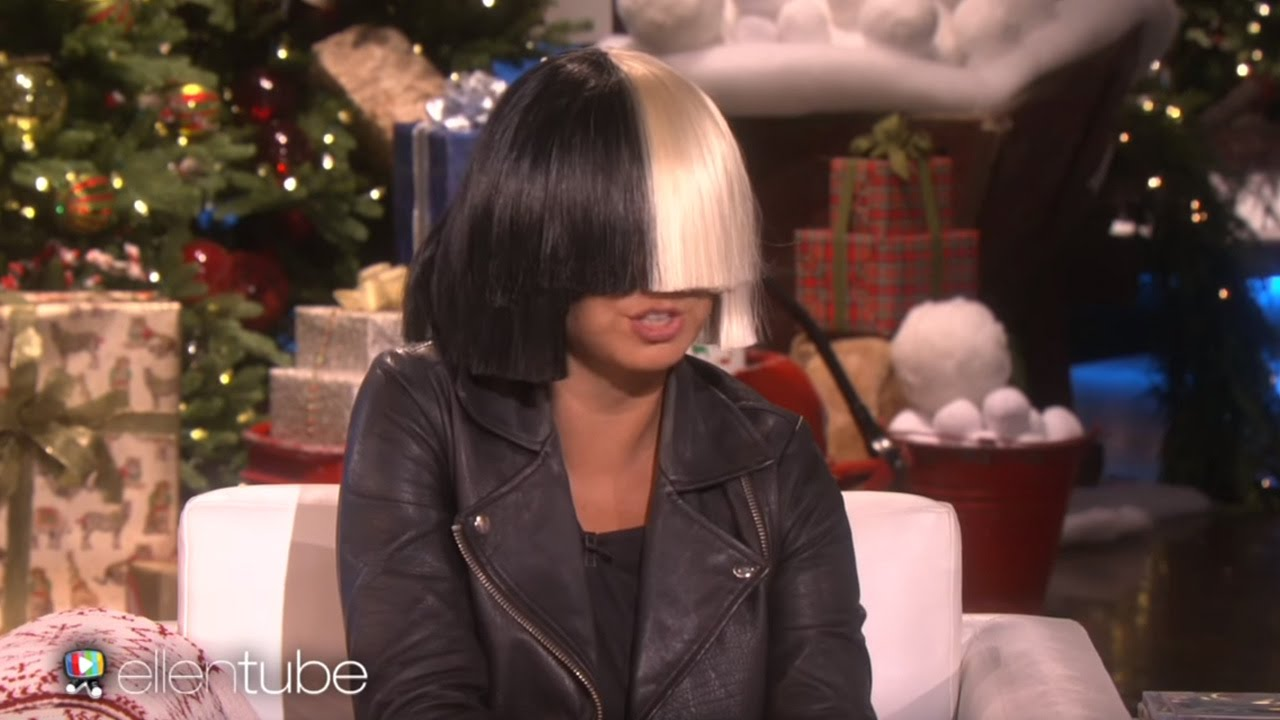 Sia Takes Off Her Wig For Ellen Performs Alive