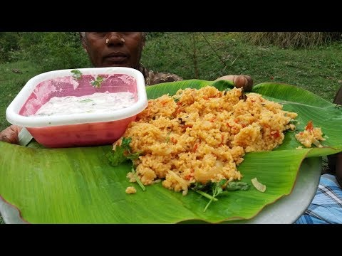 Village Style Tomato Biryani Cooking in Our Village Farm / Food Money Food