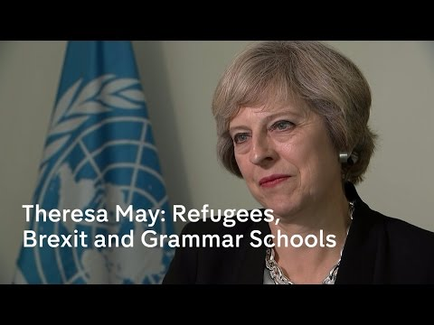 Theresa May's UN message on refugees