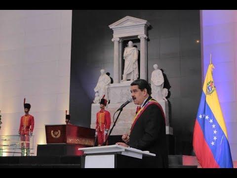 Discurso de Nicolás Maduro repudiando el bloqueo de Trump, 200 años de Batalla de Boyacá