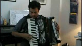 """Dekh ke Teri Nazar"" on Accordion from ""Howrah Bridge""by Amit Vaidya"