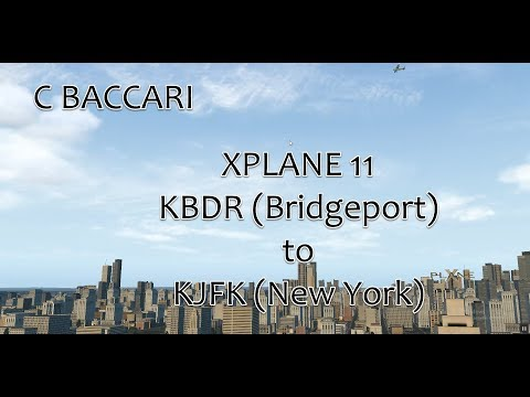 XPlane 11; Bridgeport to JFK via downtown Manhattan