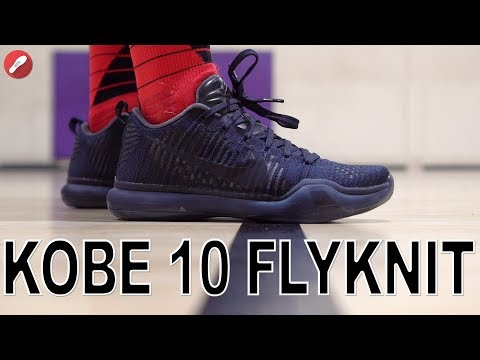 Throwback! Nike Kobe 10 Flyknit Fade to Black Performance Review!