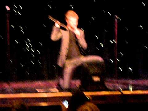Mike Welch in Tri-Cruise karaoke, singing Space Oddity