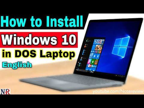 How to Install Windows 10 on DOS Laptop 🔥🔥 How to Install Windows 10 on  Lenovo Ideapad 320