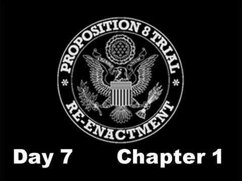 Prop 8 Trial Re-enactment, Day 7 Chapter 1