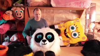 Обзор #4. Как сделать ростовую куклу Панда краткий обзор sibkukla.ru