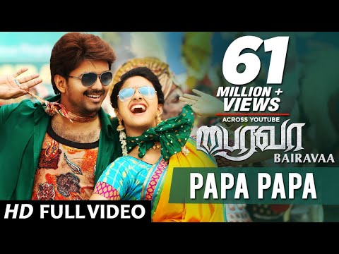 Mix - PaPa PaPa Video Song | Bairavaa Video Songs | Vijay, Keerthy Suresh | Santhosh Narayanan