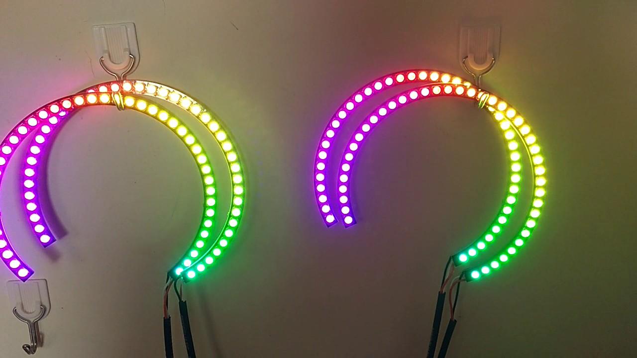 ws2812/sk6812 rgb led halo ring full circle /semi circle ...