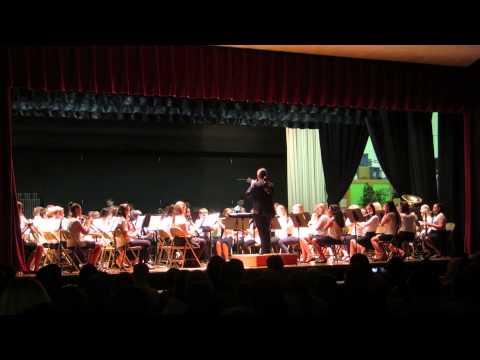 LaGrange Middle School 7th Grade Band - Davy Davy Knack Knack (song 3 of 4)