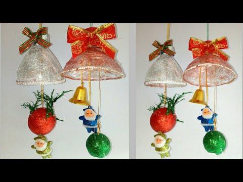 Adornos Navideños Con Material Reciclado - campanas navideñas - Decoraciones navideñas 2018 #Diy