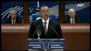 Azərbaycan Prezidenti İlham Əliyevin Avropa Şurası Parlament Assambleyasının sessiyasında nitqi