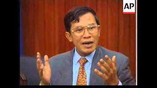 CAMBODIA: HUN SEN SPEAKS FOR FIRST TIME IN PUBLIC SINCE HIS TAKEOVER