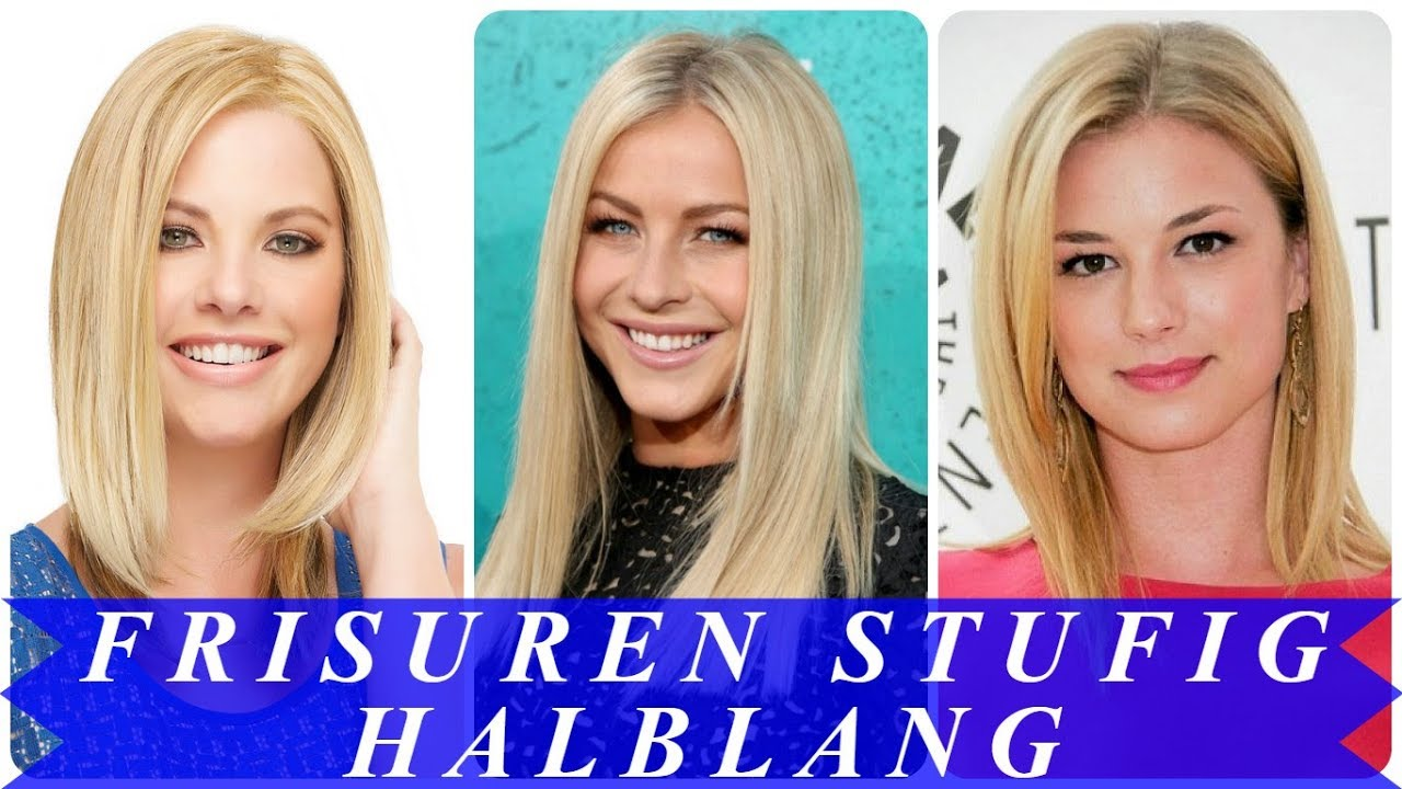 Aktuelle Frisuren Blond Halblang Gestuft