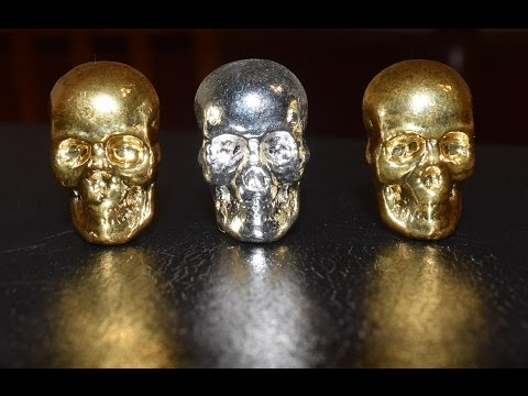Unpackaging Some 24k Gold Gilded 1 oz YPS Skulls From Pit Bullion!