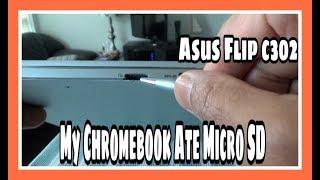 My Asus Chromebook Ate Micro SD Card   Asus Flip C302   Chromebooks Tips & Tricks