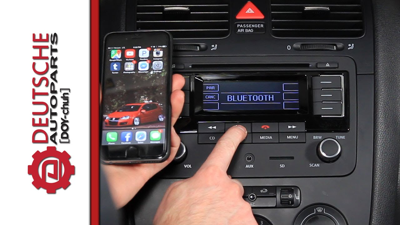 features of the oem vw rmt300 bluetooth radio youtube. Black Bedroom Furniture Sets. Home Design Ideas