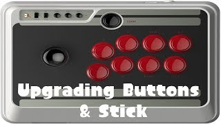 8BITDO NES30 ARCADE STICK - UPGRADING TO SANWA BUTTONS AND NEW STICK