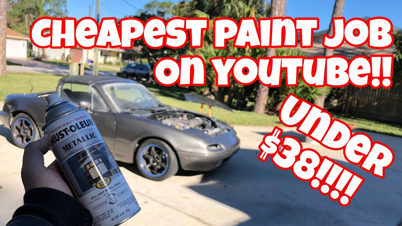 How To Rattle Can Spray Paint Your Car At Home Youtube