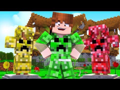 Minecraft: Crazy CREEPER ARMOR! | More Creeper Drops & Camo Trolls | Mod