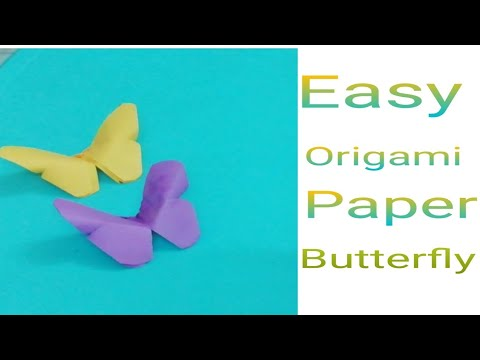 Easy origami paper butterfly
