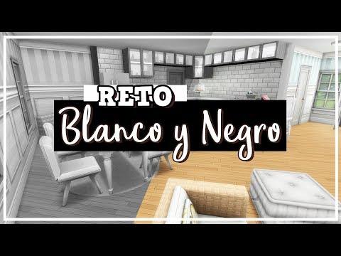 The Sims 4   Reto: Construcción en Blanco y Negro