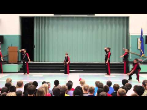 Freestyle Martial Arts Performance Team at Huffaker Elementary School