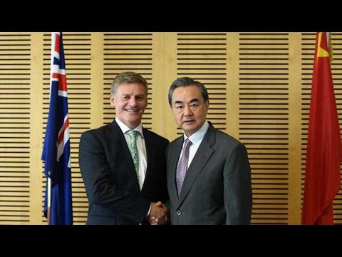 Chinese FM Wang Yi meets New Zealand PM Bill English