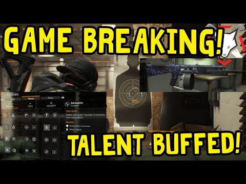 GAME BREAKING SHOWSTOPPER GLITCH! PRED IS DEAD! TALENT BUFFED! - The Division 1.8.2