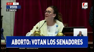 El Senado rechazó el aborto legal en la Argentina: el momento de la votación