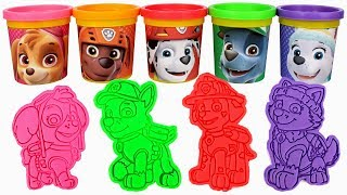 Paw Patrol Play Doh Can Heads & Paw Patrol Play Doh Molds Learn Colors with Chase Skye Ryder Everest thumbnail