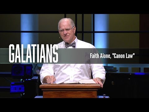 "Faith Alone, ""Canon Law"""