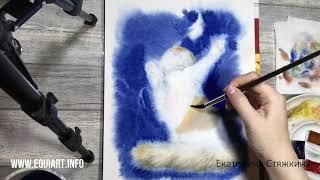 Кошка акварелью / Watercolor cat