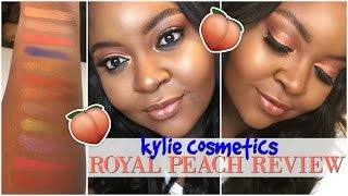 KYLIE COSMETICS THE ROYAL PEACH PALETTE ► INITIAL REVIEW + SWATCHES ON DARK SKIN